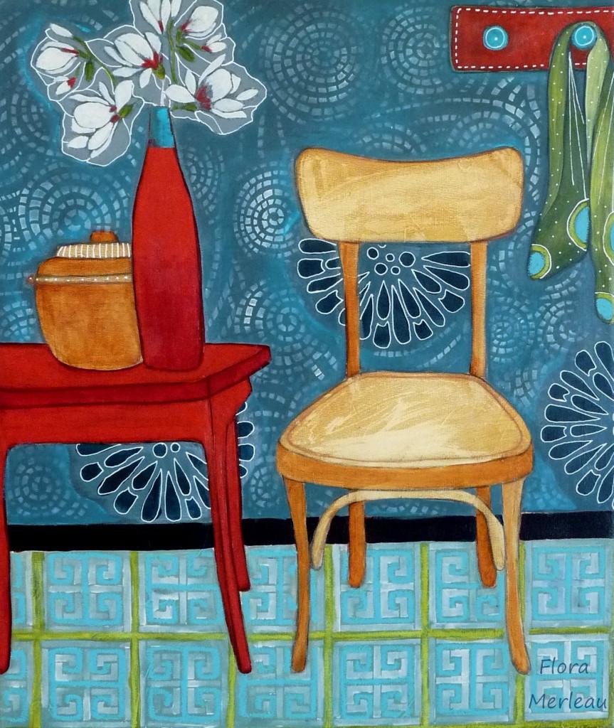 la chaise  jaune cop