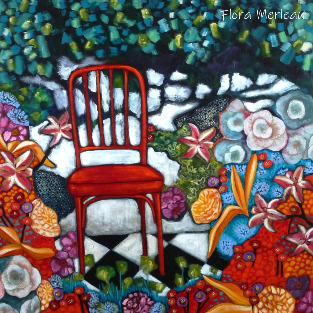 la chaise rouge du jardin.JPG cop